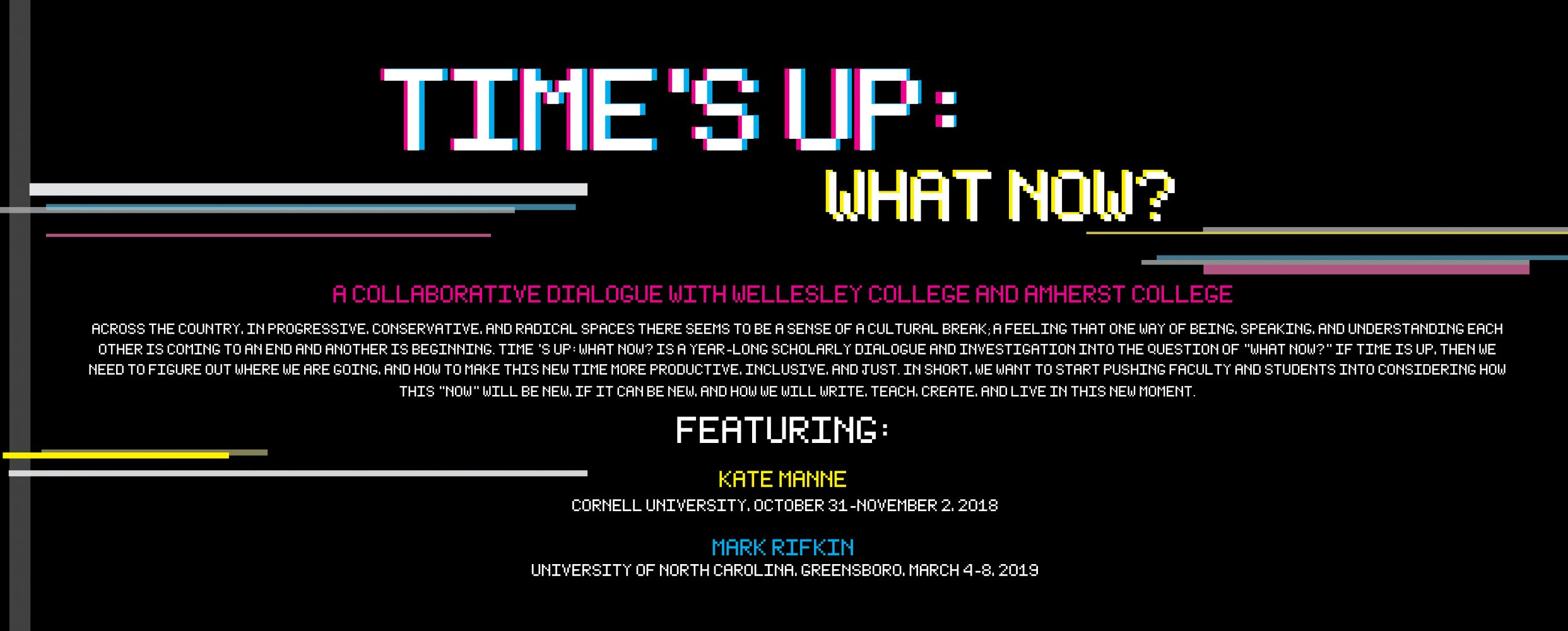 Time's Up: What Now? flyer